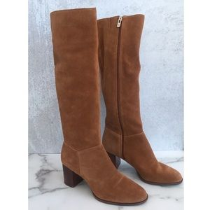 Antonio Melani suede tan knee high boots